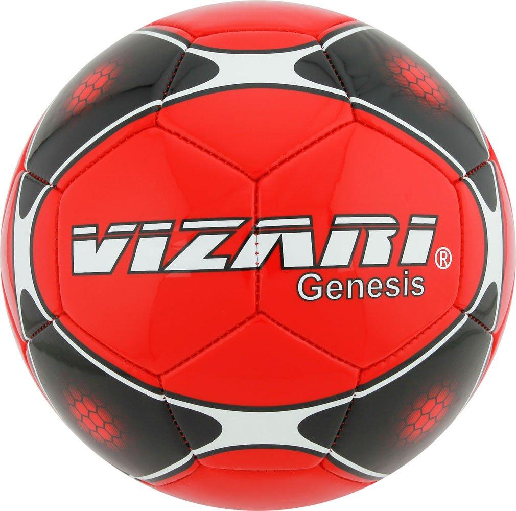 Vizari Genesisボール B00R92AQ5G Size 5 レッド レッド Size 5