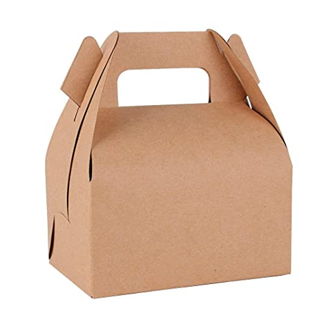 25pcs(11.5 * 8 * 9cm) Cajas Papel Kraft de Galletas Tartas Pasteles Bombones