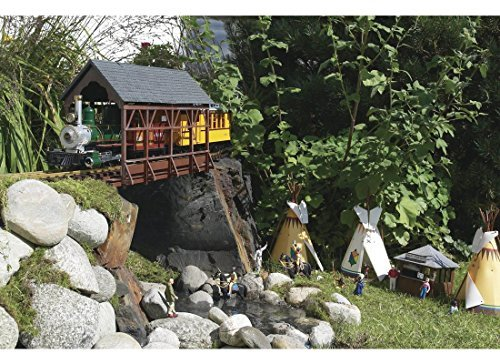 PIKO G SCALE MODEL TRAIN BUILDINGS - COVERED BRIDGE - 62116