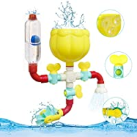 Pipes Baby Bath Toys for Toddler Bath Toys,Kids Bath Toys with Fun Widgets Squirters Rotating Spray Water Toy,Ball and…