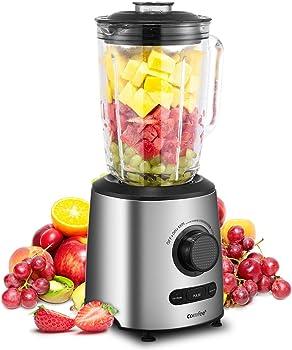 Comfee' Blender Smoothie Blender with Glass Jar