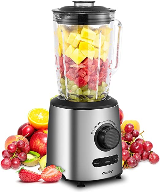 Blender, Smoothie Blender, Household Blender with Glass Jar