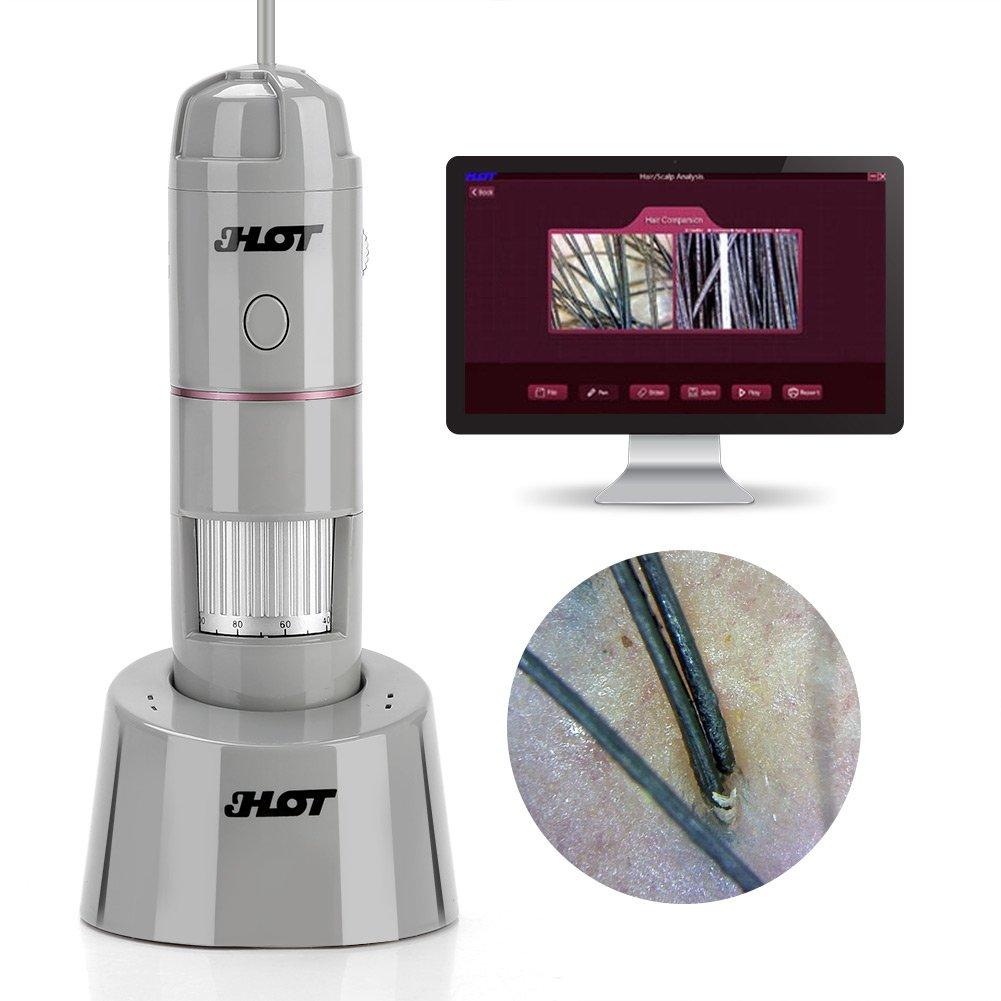 Wireless Wifi USB Digital Microscope Skin Analyzer 200MP Camera 5-200X USB OTG Skin Hair Scalp Detector