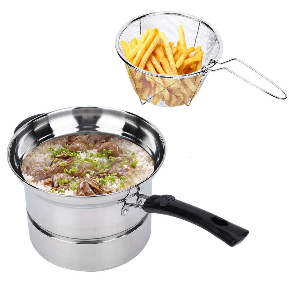 QWERASD Soup Pot Non-Magnetic Complex Bottom Pot Thickened Noodles Fried Multi-Purpose Cooking Steamer Single Handle Stainless Steel