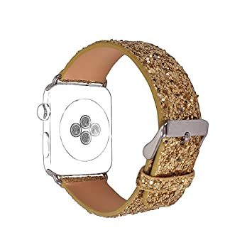 Apple Watch Correa 38mm Rosa Schleife®Correas iWatch Piel Pulsera Apple Watch Series 3 Series 2 Banda Cuero Leather Sport Band Reemplazo de Reloj ...