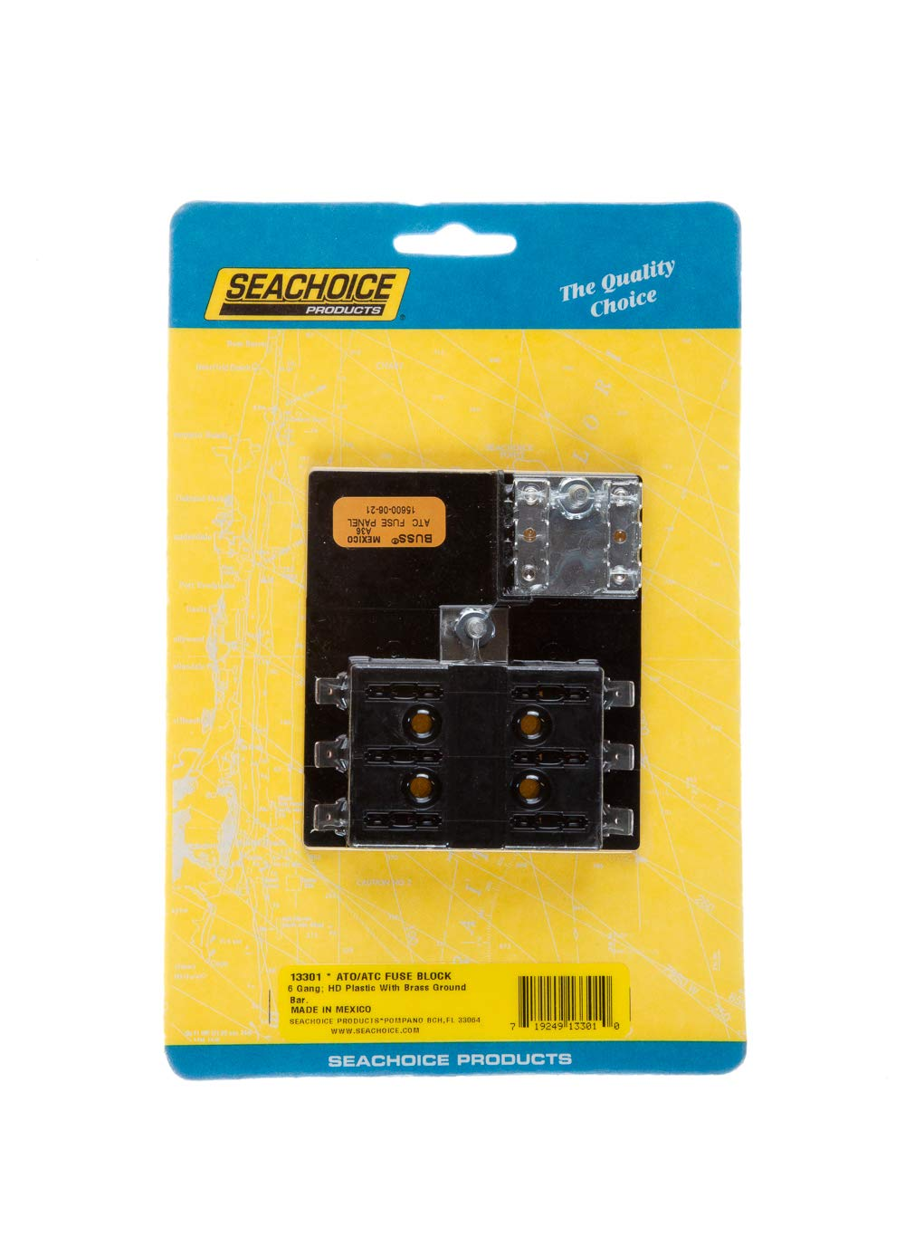 Seachoice 13301 Ato Atc Fuse Block 6 Gang Sports Outdoors 1 Electrical Box