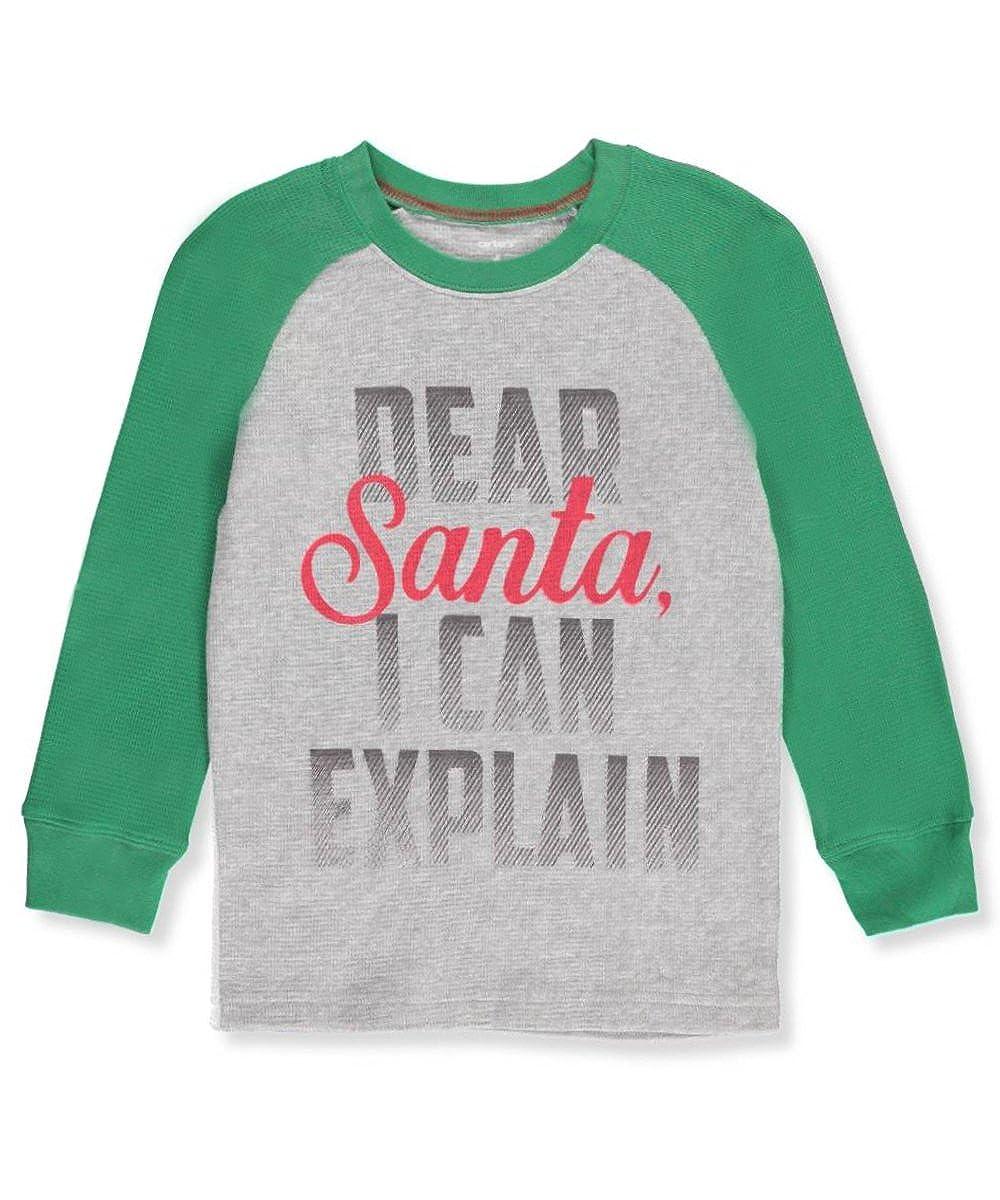 26029d74043e Amazon.com  Carter s Boys  Long Sleeve Dear Santa Tee  Clothing