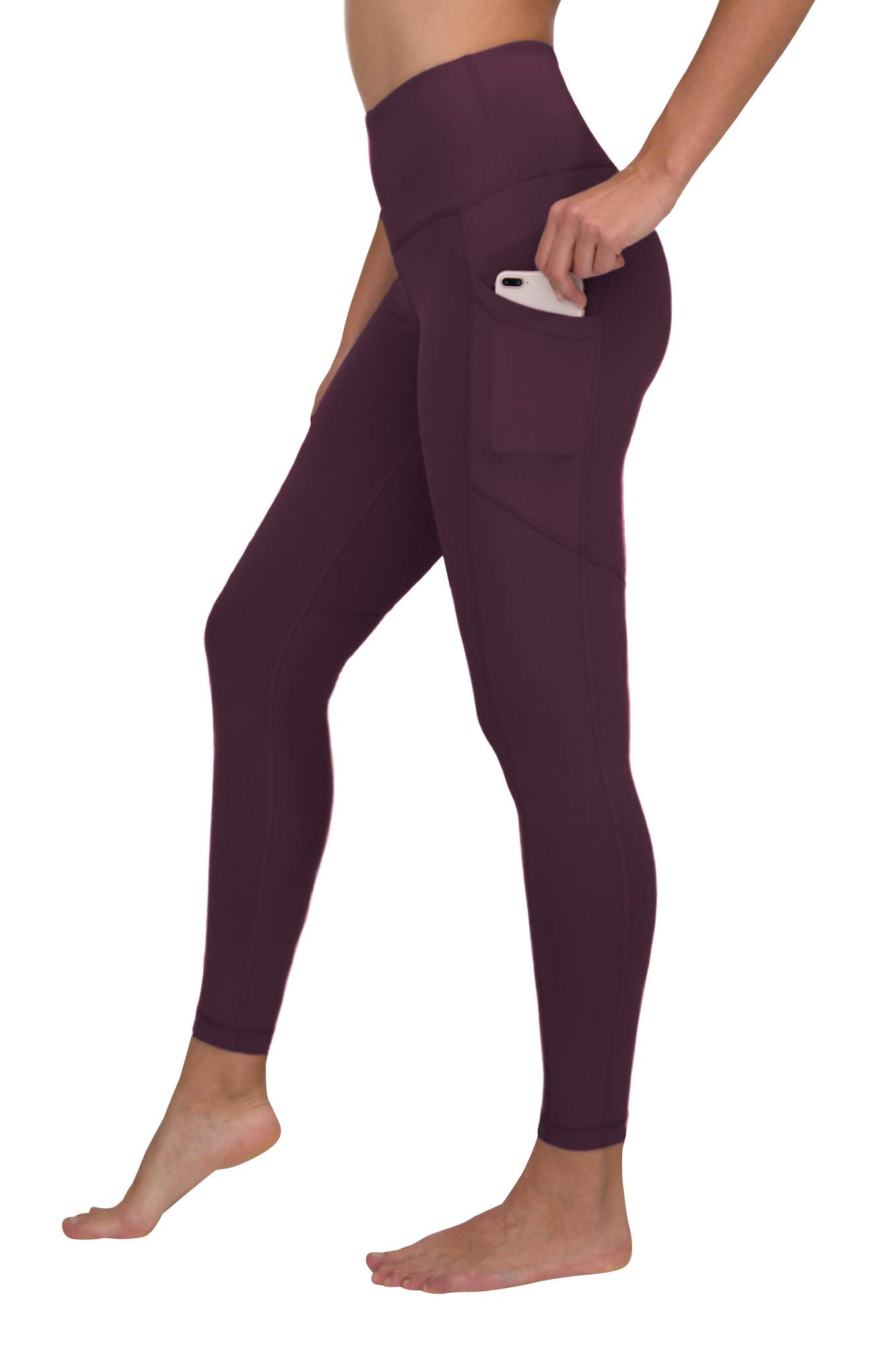 90 Degree By Reflex Women's Power Flex Yoga Pants - Plum Affair - Medium by 90 Degree By Reflex