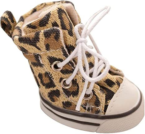 OLADO Zapatos Deportivos con Cordones para Perros Leopard Botas de ...