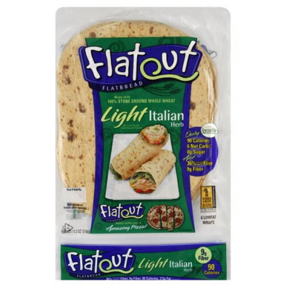 Flatout Light Flatbread Low Fat, Low Carb Wraps (Italian Herb)