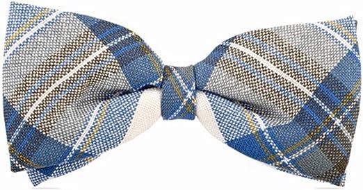 Scottish Made Highland Kilt Stewart Muted Blue Tartan Bow Tie 100/% Pure New Wool