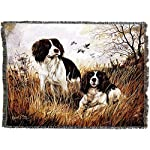 Pure Country Weavers - English Springer Spaniel Woven Tapestry Throw Blanket with Fringe Cotton USA Size 72 x 54 7