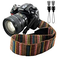 Bailsy Camera Strap Bohemia Shoulder Neck Universal Camcorder Belt Strap for All DSLR Camera Nikon Canon Sony Olympus Samsung Pentax Fujifilm colorful