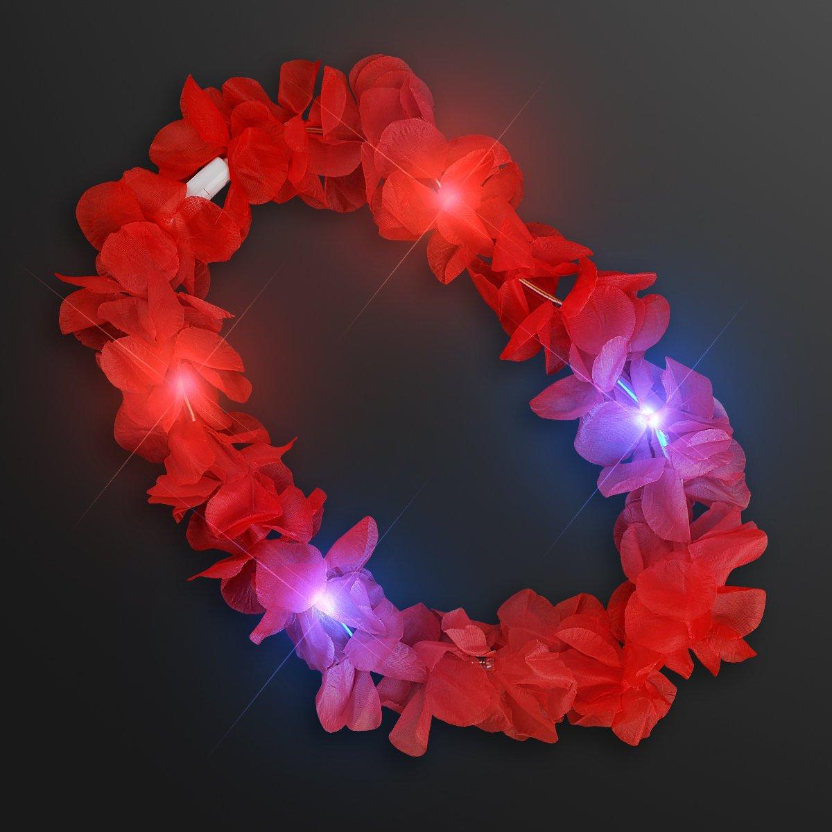 Large Assorted Light Up Hawaiian Leis with Flashing LED Lights (Set of 24) by FlashingBlinkyLights (Image #6)