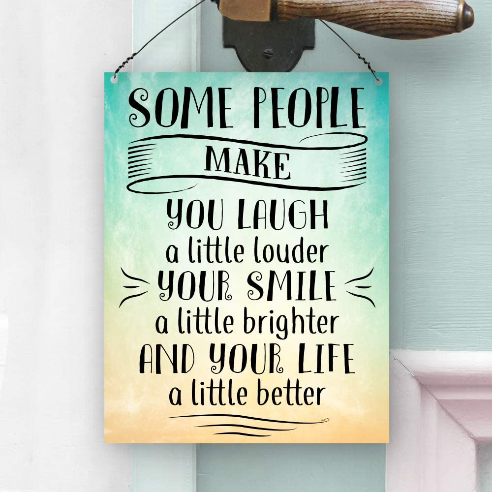 "METAL SIGN Life/'s better when you/'re laughing  18/""x4/"" Christmas gift stocking"