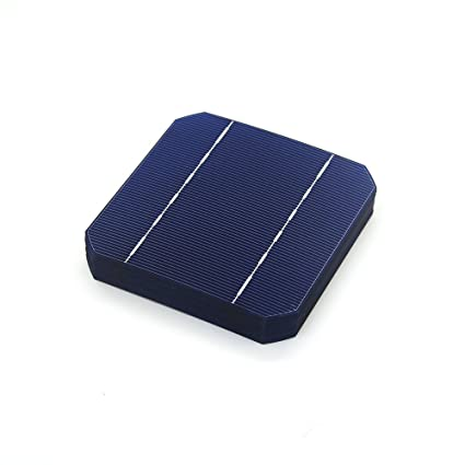 Generic 10 Pcs 17.6% 125 x 125MM Mono Solar Cells 5x5 Grade A monocrystalline Silicon PV Wafer For DIY Home Photovoltaic Solar Panels