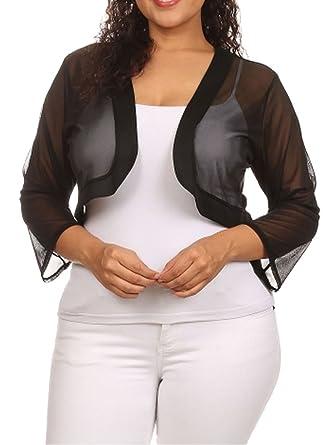 Black Plus Size Shrugs
