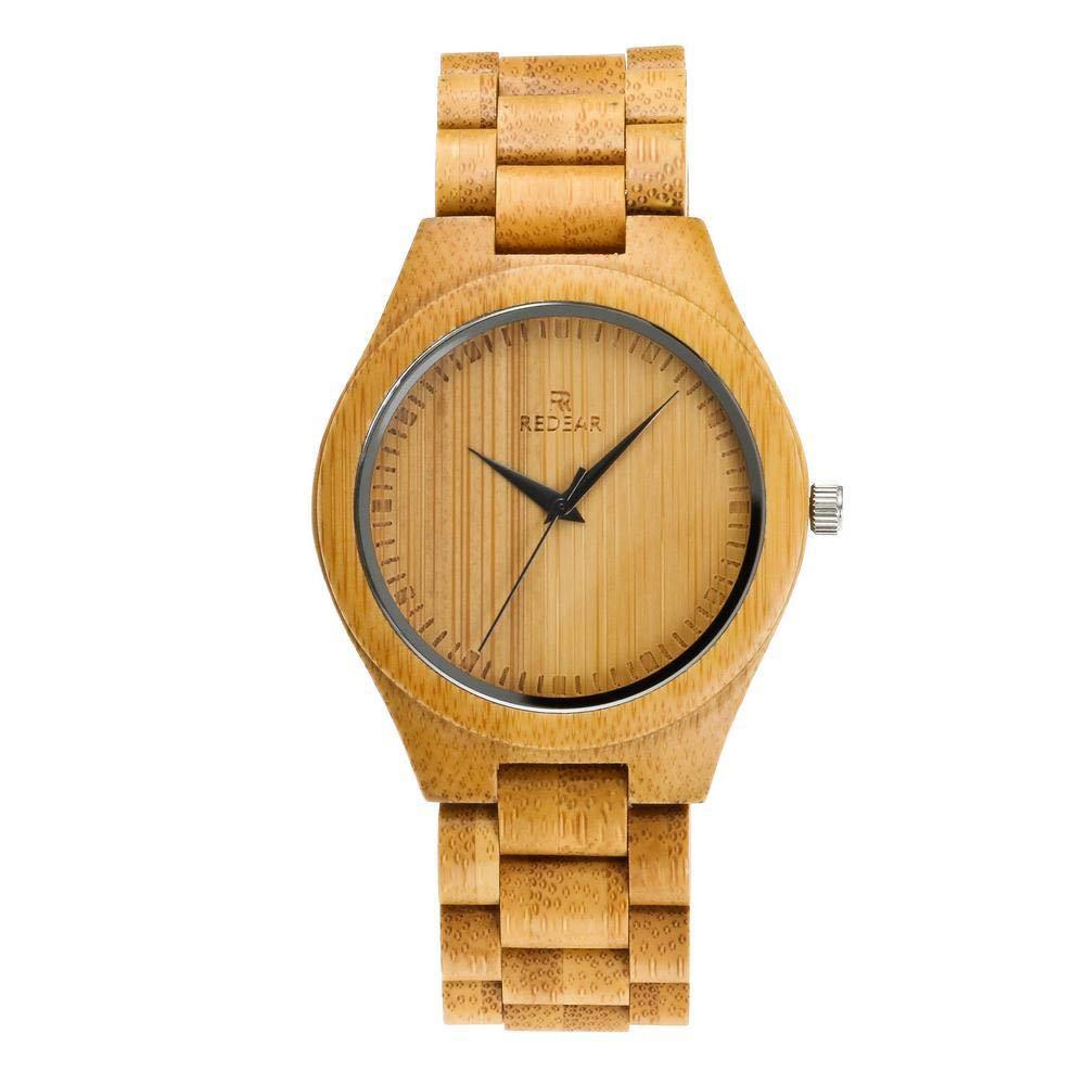 木製腕時計 ウッド シンプル 河野太郎と同じスタイルの腕時計 竹製 日本製 Citizenクオーツ (ゴールド)