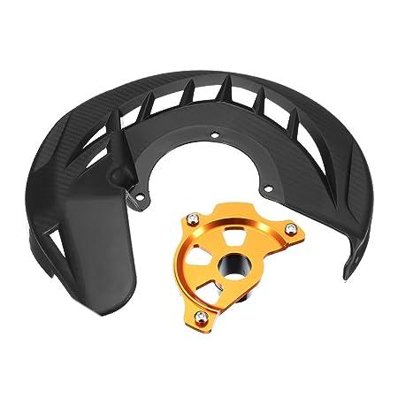 GOZAR Moto Freno Delantero Disco Rotor Protector Cubierta Protector Negro para KTM 125-530 Sx Sxf XC Xcf Exc: Amazon.es: Hogar