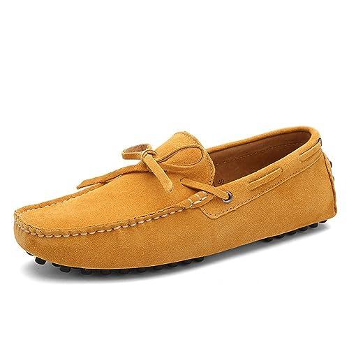 Shenn Hombres Comodidad Mocasines Ponerse Conducción Ante Mocasín Pisos 3660: Amazon.es: Zapatos y complementos
