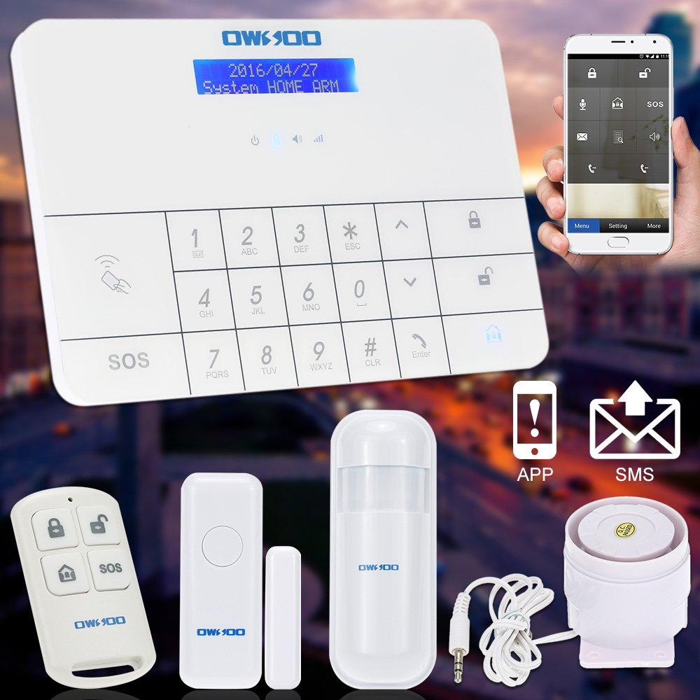 Amazon.com : OWSOO Wireless LCD GSM U0026 SMS Home House Security Burglar  Intruder Alarm System With Auto Dialer : Camera U0026 Photo