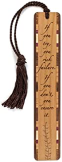 product image for Personalized If You Try Inspirational Quote, Engraved Wooden Bookmark with Tassel - Search B01BX5ZE4M for Non-Personalized Version