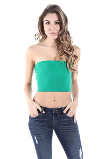 606b24387b SALT TREE Women s Basic Thick Strapless Cotton Tube Top  Amazon.ca ...