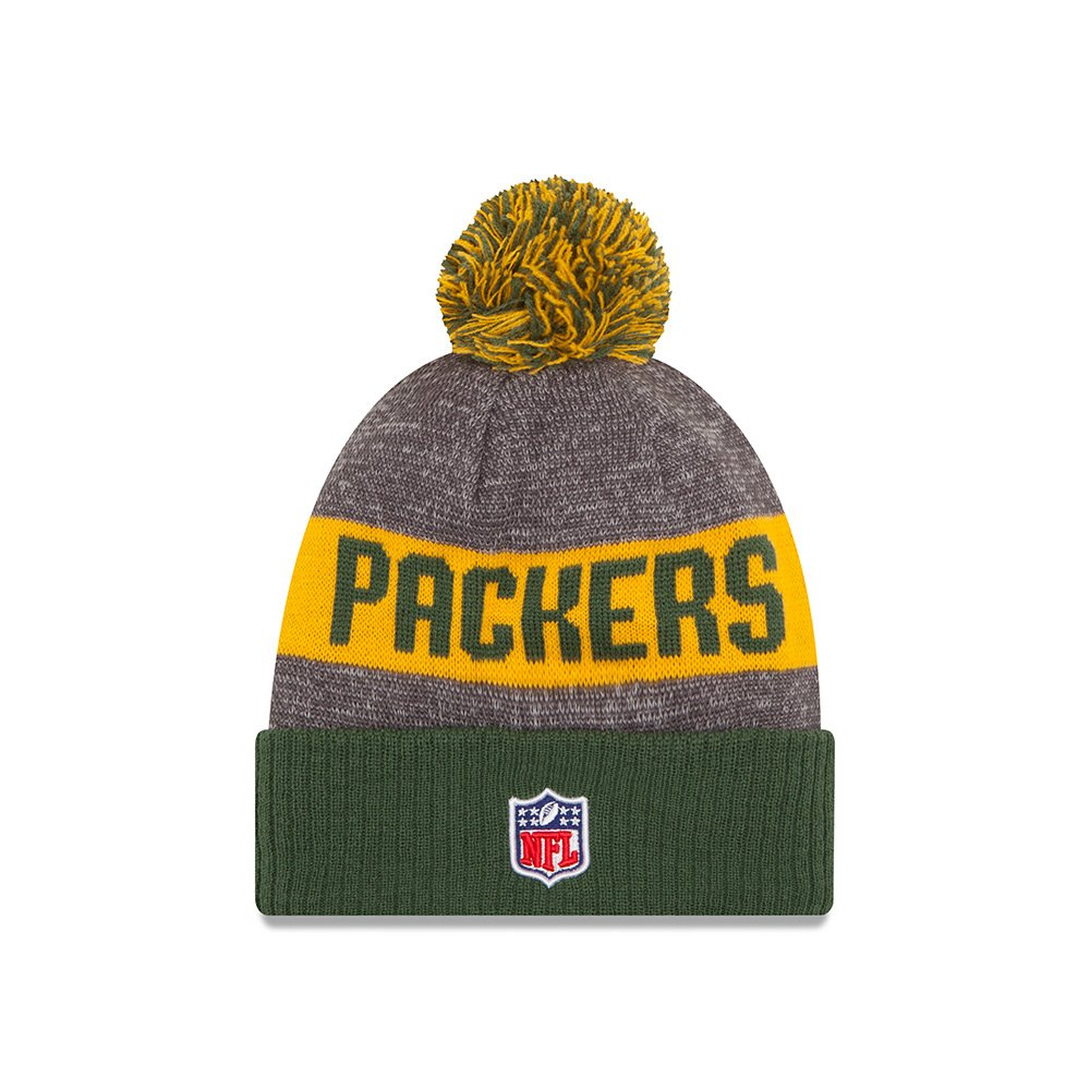 Amazon.com   New Era Green Bay Packers 2016 NFL Sideline On Field Sport Knit  Hat - Green Cuff   Sports   Outdoors 1a21ab825