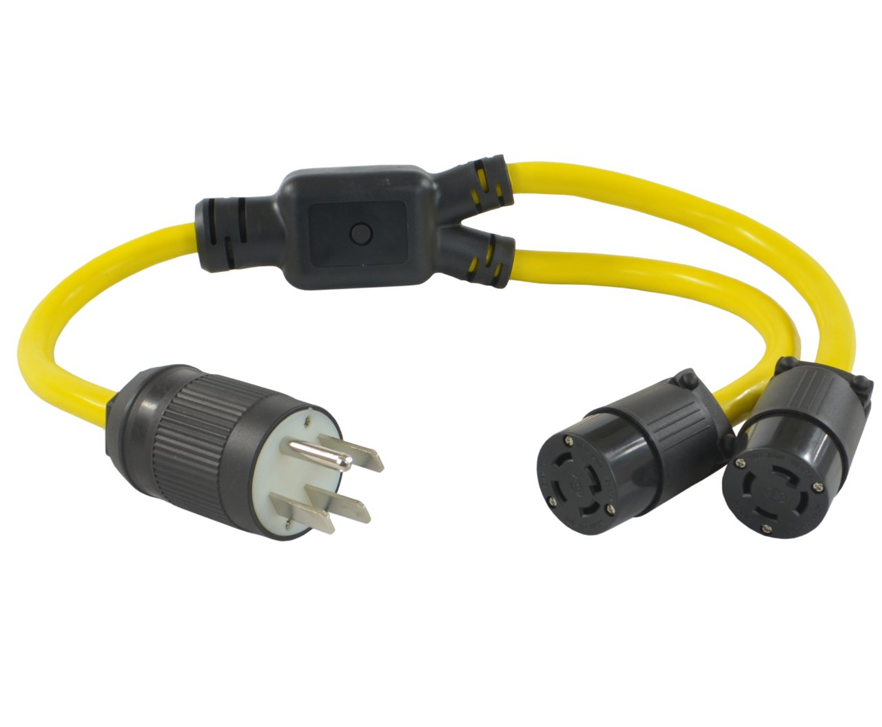 Conntek Y1450L1430 Y Cable NEMA 14-50P RV/Generator/Range Plug to Locking 4 Prong L14-30R Female Adapter
