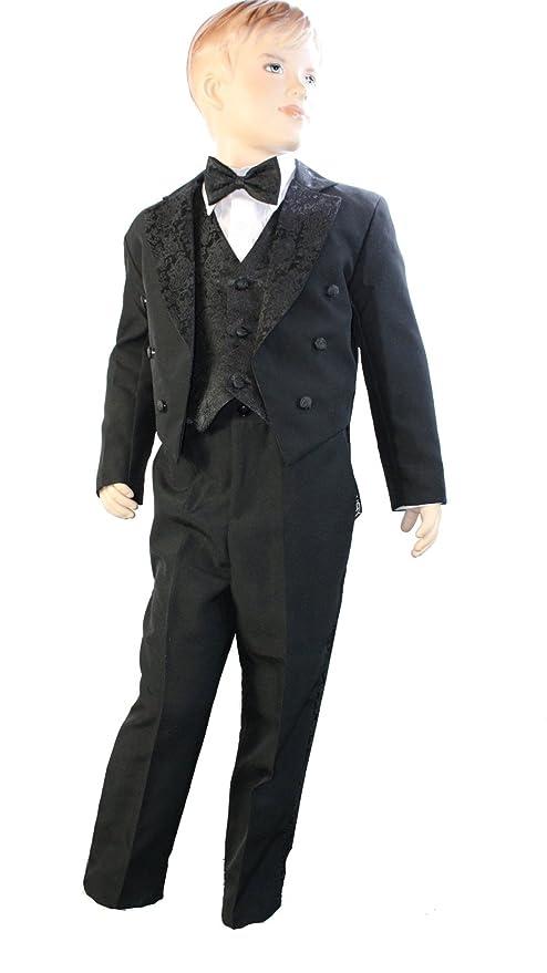 Bebé Niños Negro Cola de 5 piezas Tuxedo - Traje de chaleco ...