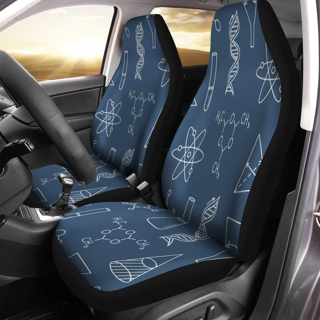 Amazon Com Semtomn Car Seat Covers Science Doodle Navy Blue