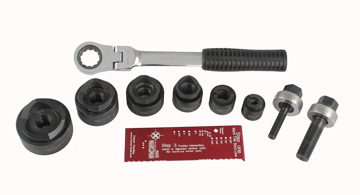 Southwire Tools & Equipment MPR-01SD Max Punch Ratchet Set with 1/2-Inch to 2-Inch Dies