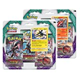 Pokemon 161-80216 Sun And Moon Guardians Rising Triple Pack Booster