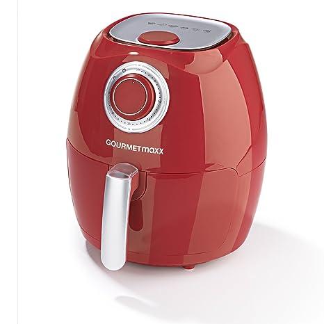 Freidora de aire caliente Gourmet Maxx 2,2L 1350 W en rojo