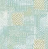 A-Street Prints 1014-001863 Flower Power Patchwork Wallpaper, Turquoise