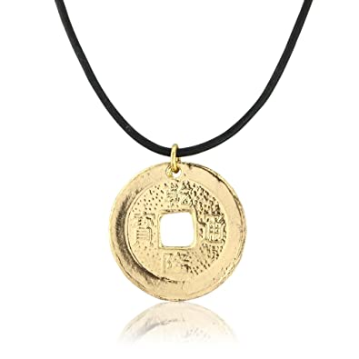 Lucky chinese gold coin necklace for men and boys amazon lucky chinese gold coin necklace for men and boys mozeypictures Choice Image
