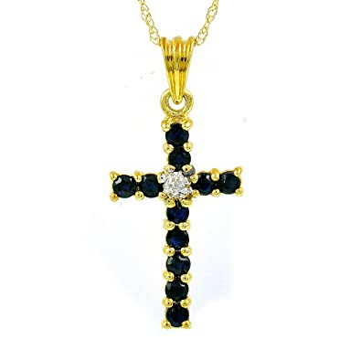 """375 9ct Yellow Gold Cross Pendant /& 16/"""" or 18/"""" Chain Fully Hallmarked"""