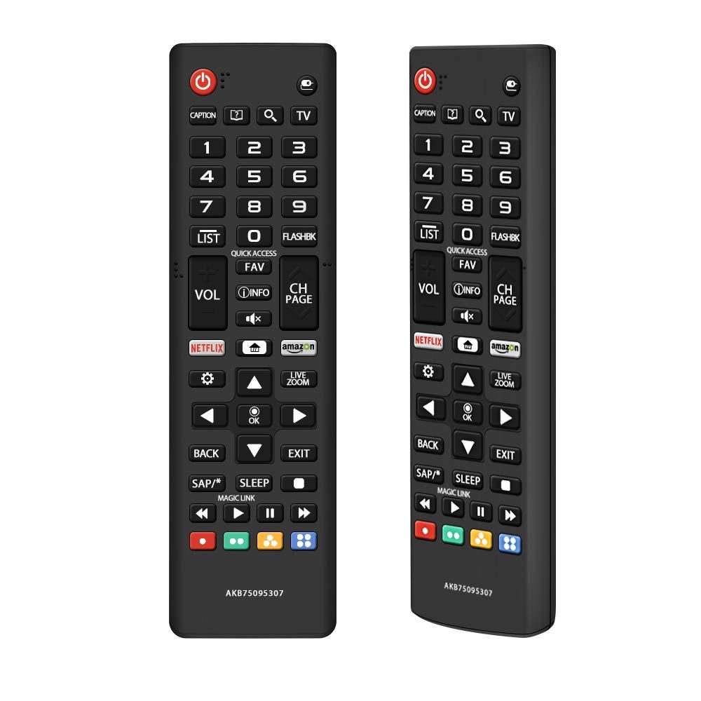 Gvirtue AKB75095307 Remote Control Compatible Replacement for LG TV 32LJ550B 55LJ5500 55UJ6050 43UJ6200 43UJ6500 43UJ6560 49UJ6500 49UJ6560 55UJ6520 55UJ6540 55UJ6580 60UJ6540