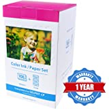 Replace Canon Selphy Ink and Paper KP-108IN Selphy CP1200 CP1300 CP1000 CP910 CP900 CP820 CP810 CP800 CP790 Photo Printers ( KP 108IN 6 Inch 108pcs )