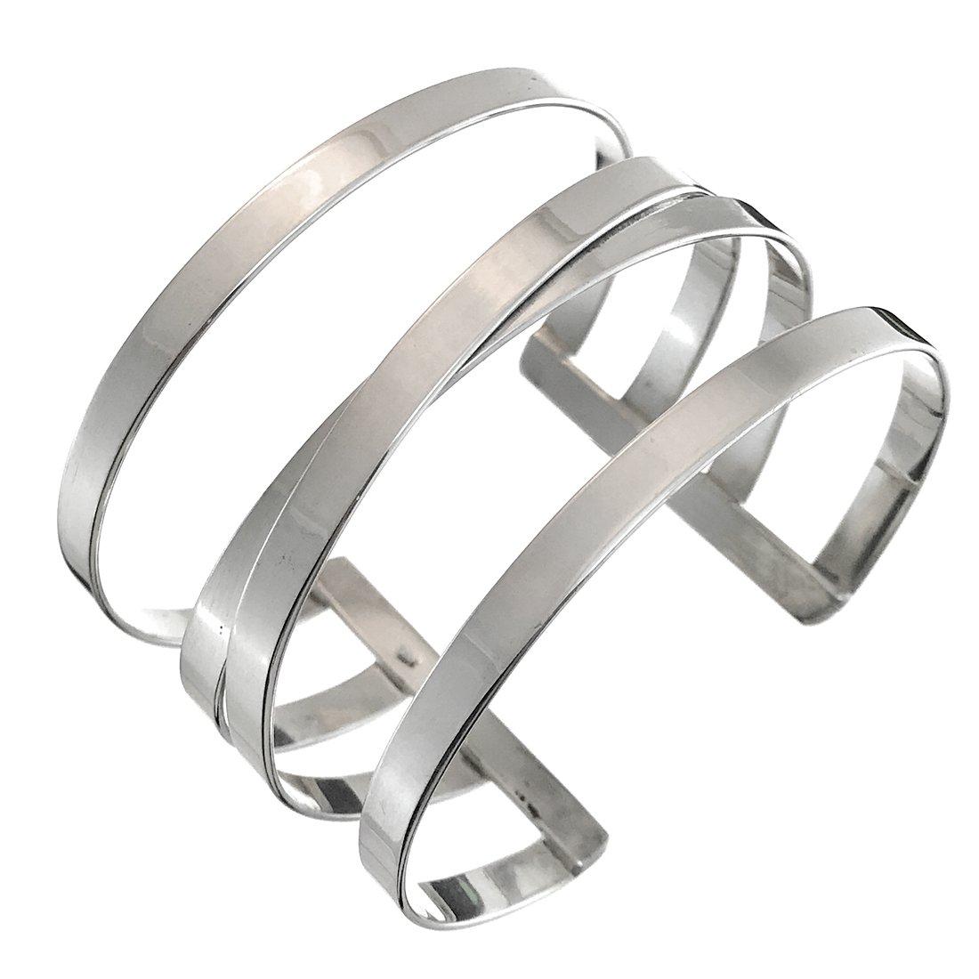 Sterling Silver Wide Gladiator Cuff Bracelet