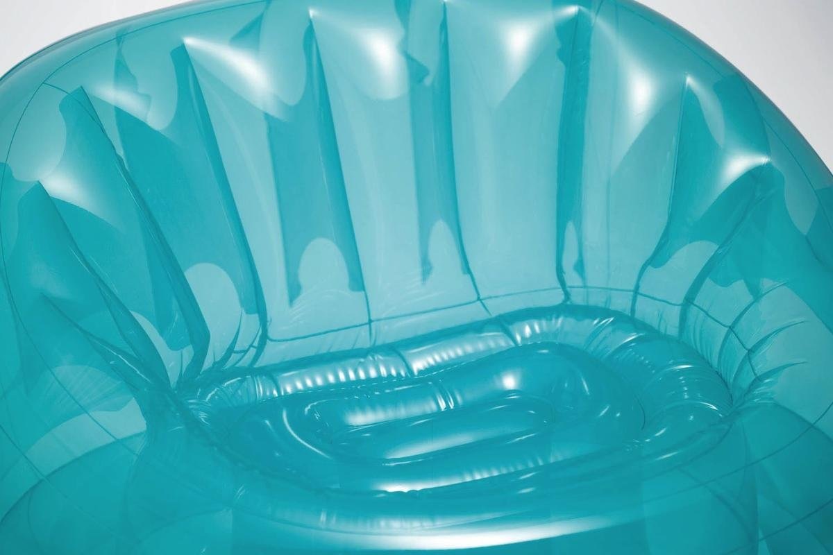 INTEX 68593 Home Poltrona Trasparente Cosmo Poliestere Blu 104 x 117 x 69 cm