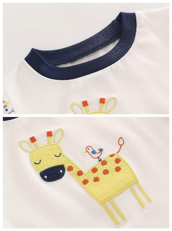 Baby Body T-Shirt Kurze-Hosen 3er Pack Jungen Spieler Kurzarm Jumpsuit Outfits 3-24 Monate