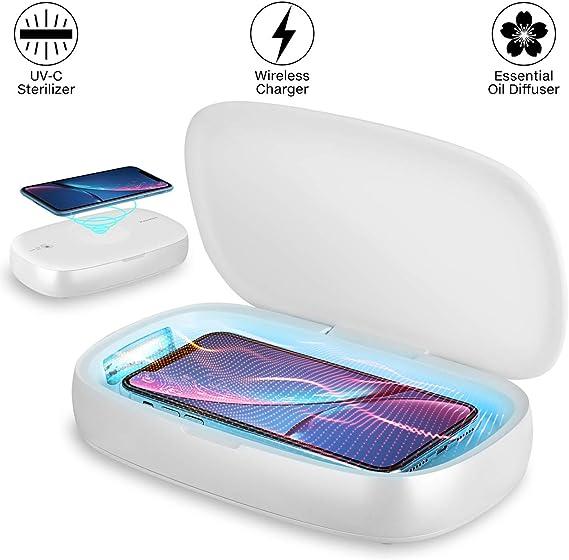 Amazon.com: UV Phone Sanitizer Wireless Charger UV Light Sanitizer ...