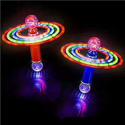"10.5"" Double-Ball Magic Spinning Wand, Multicolored. 2 Pieces."