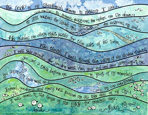 Psalm 23 8x10 - Christian Sympathy Gift