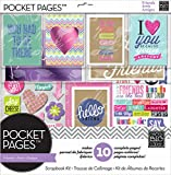 Me & My Big Ideas Pocket Pages Scrapbook Page Kit, Love My Friends, 12-Inch by 12-Inch
