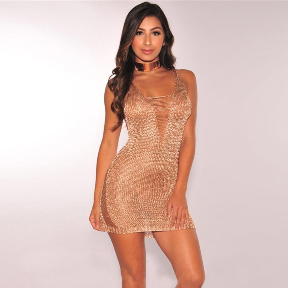 S, Khaki Kleid Dellin Damen V-Ausschnitt Party Club Bodycon Zweiteiler Crop Tops Rock