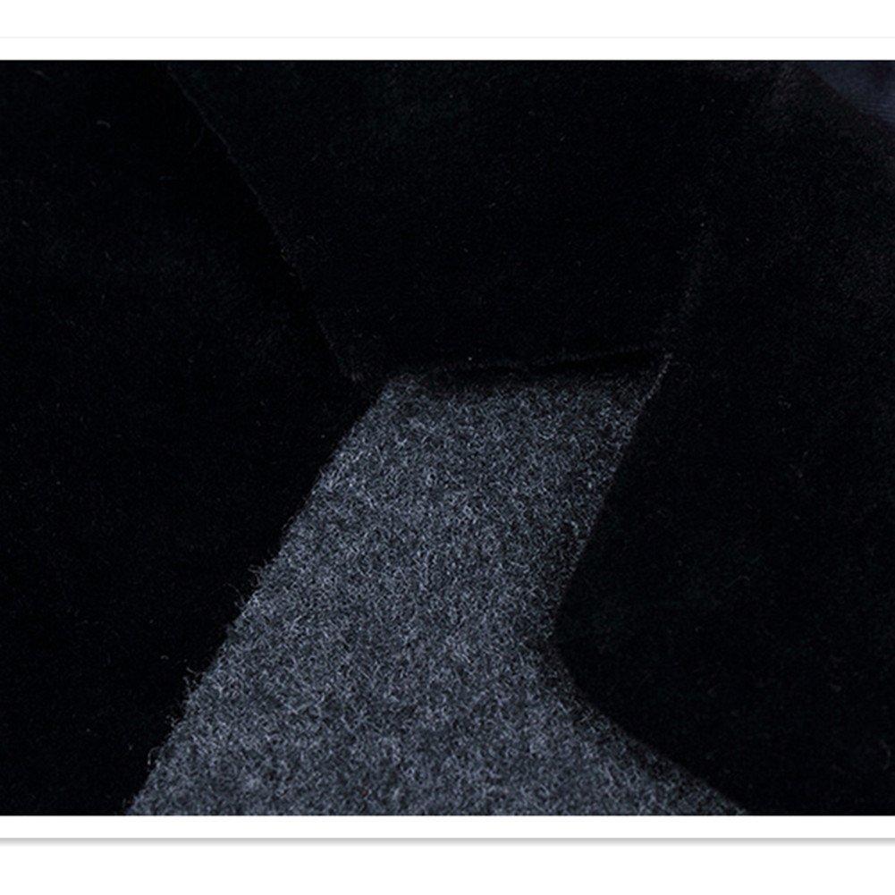 MOGU Mens One Button Center Vent Patchwork Wool Blazer Jacket