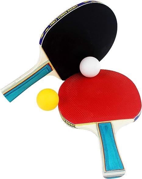 1MI STORE Kit Palas Ping Pong, 2 Raquetas Tenis de Mesa 2 Juego de ...