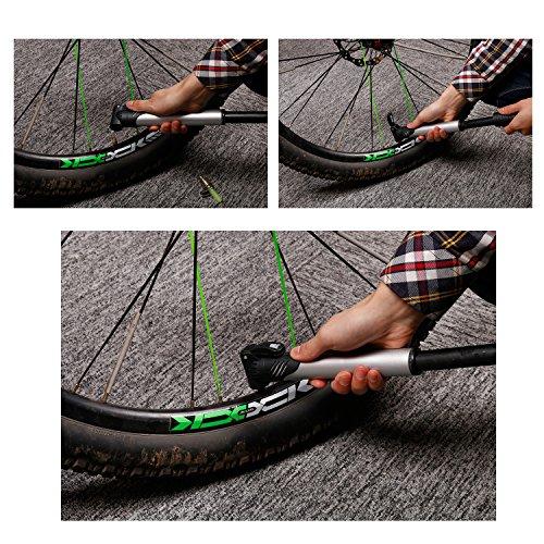 West Radfahren Bike Fahrrad Pumpe, Mini-Pumpe mit Faltbares Multifunktions Werkzeug–Bone Typ Stahl–Tire Repair Kit.